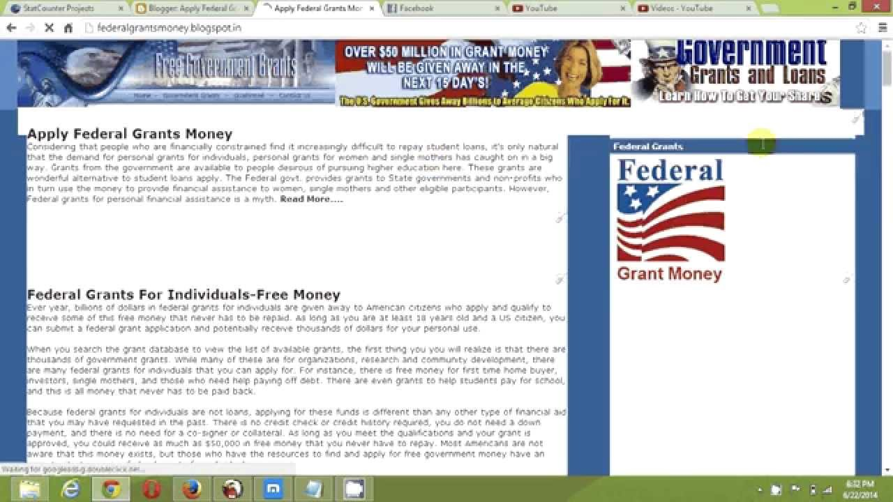 Free Federal Government Grants-Government Grant Money Approved - YouTube