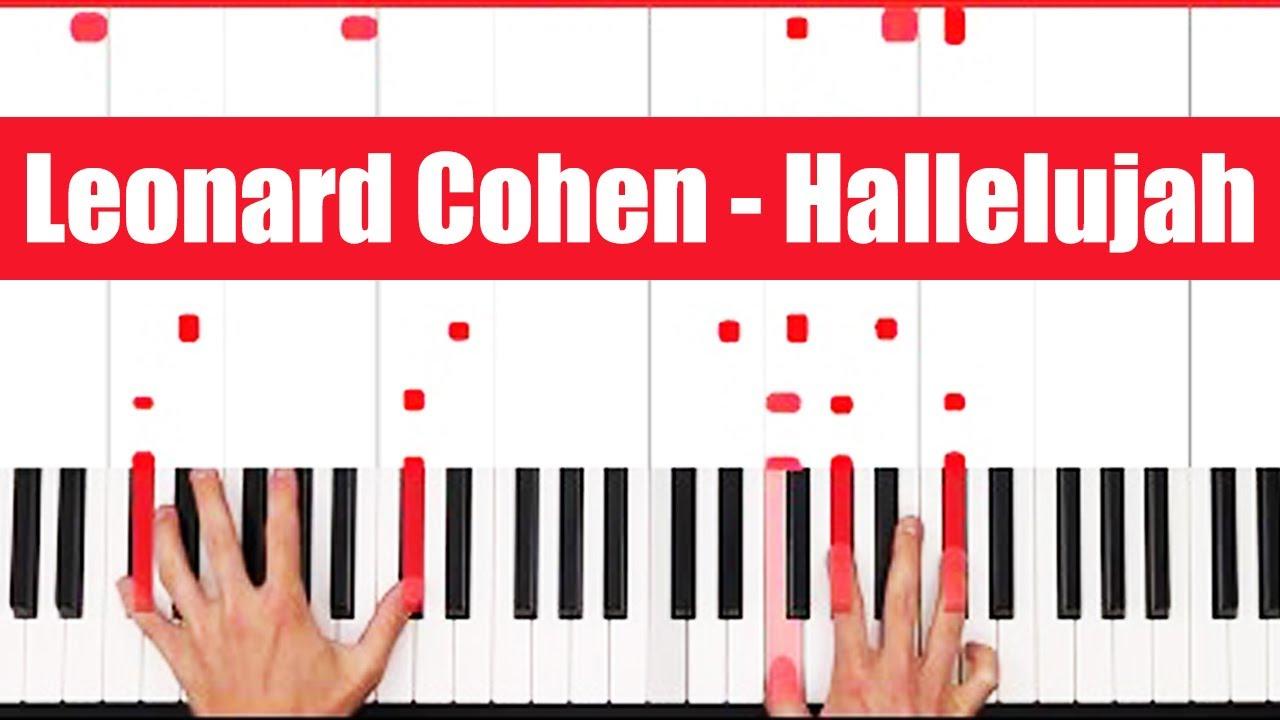 Hallelujah Piano How to play Leonard Cohen Hallelujah Piano Tutorial