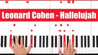 Download Hallelujah Leonard Cohen Piano Tutorial - EASY Mp3 and Videos