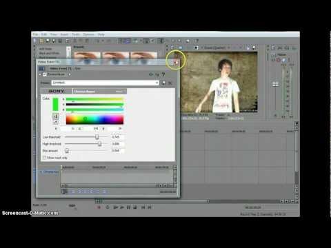 видео: Как изменить задний фон с green screen в программе sony vegas