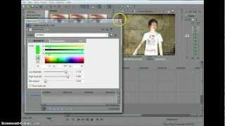 как изменить задний фон с green screen в программе sony vegas