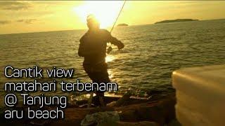 Download Cantik view matahari terbenam. - Tanjung aru beach. #52