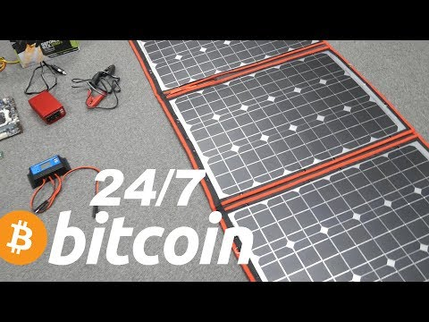 How Much Can You Make Mining Bitcoin on Solar 24/7 With Battery + GPU Giveaway 4K Part 1
