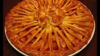 Дрожжевой пирог с яблоками