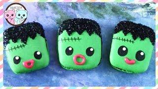 Frankenstein Macarons, Halloween Macarons - By Sugarcoder