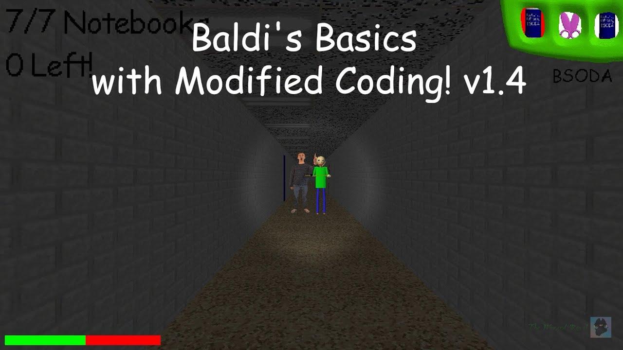 Baldi's Basics with Modified Coding! v1.4 [Baldi's Basics Mod]
