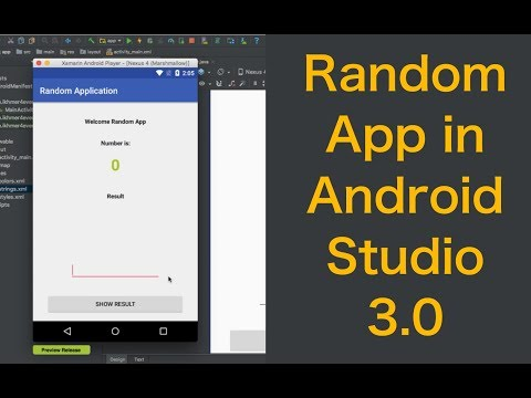 How to Create Random Number App in android studio 3.0
