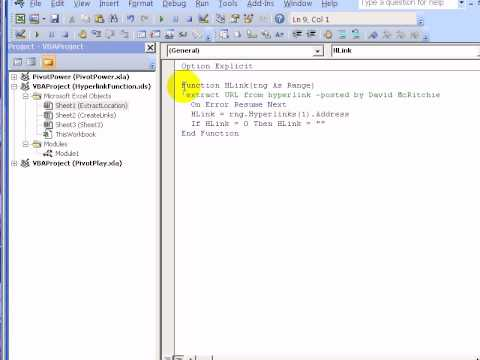 Excel Hyperlinks and Hyperlink Function