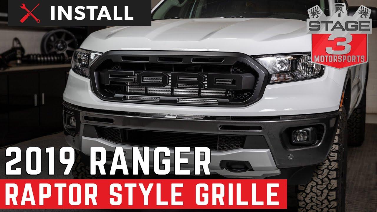 2019 2020 Ranger Raptor Style Complete Grille Kit Install Youtube