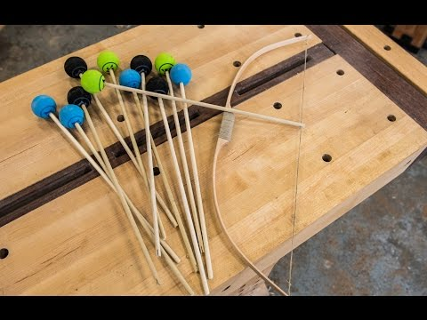 Woodworking, Kids Bow And Arrow