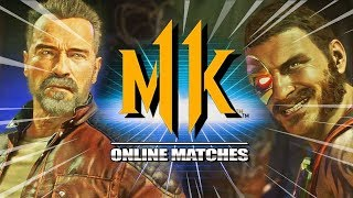 My FIRST Matches w/TERMINATOR: Mortal Kombat 11 Online