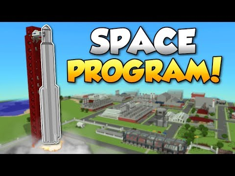 THE SPACE PROGRAM!? - Voxel Turf Gameplay - Space Program Special Building
