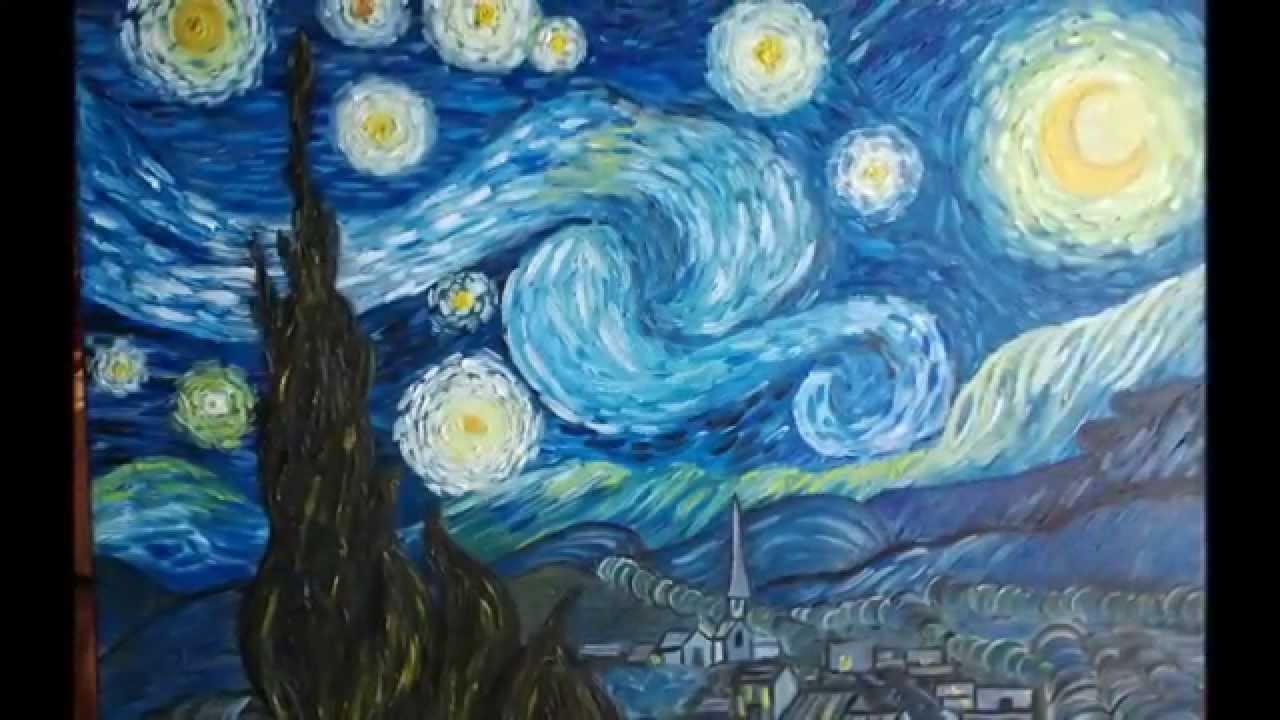 Van gogh notte stellata fasi di realizzazione youtube for La notte stellata vincent van gogh