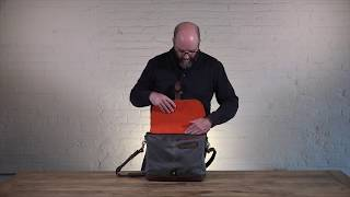 Crafted Laptop Canvas & Leather Messenger Bag   Pad & Quill Leather Messenger Bag Review