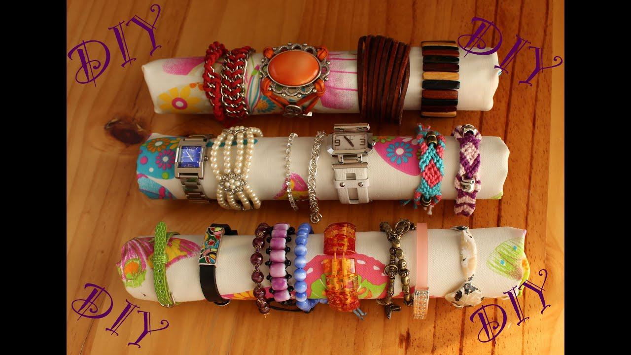 Diy haz un organizador para tus pulseras y relojes muy - Hacer reloj de pared con fotos ...