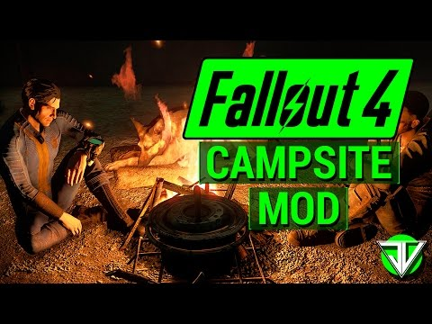 FALLOUT 4: NEW Campsite Mod Adds COMPLETE Camping System with Fires, Tents and More! (Mod Spotlight)
