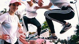 AMAZING Girl Skateboarder
