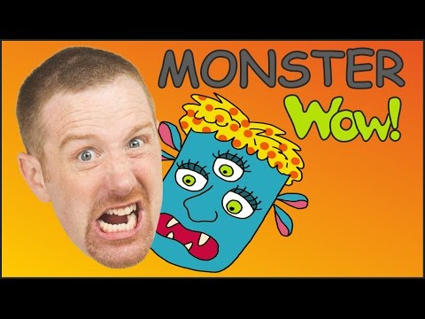 Thumbnail: Monster for Children | Monster Song | English Stories and Songs for kids | Steve and Maggie