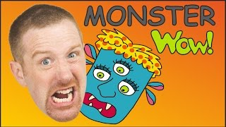 Monster for Children | Monster Song | English Stories and Songs for kids | Steve and Maggie