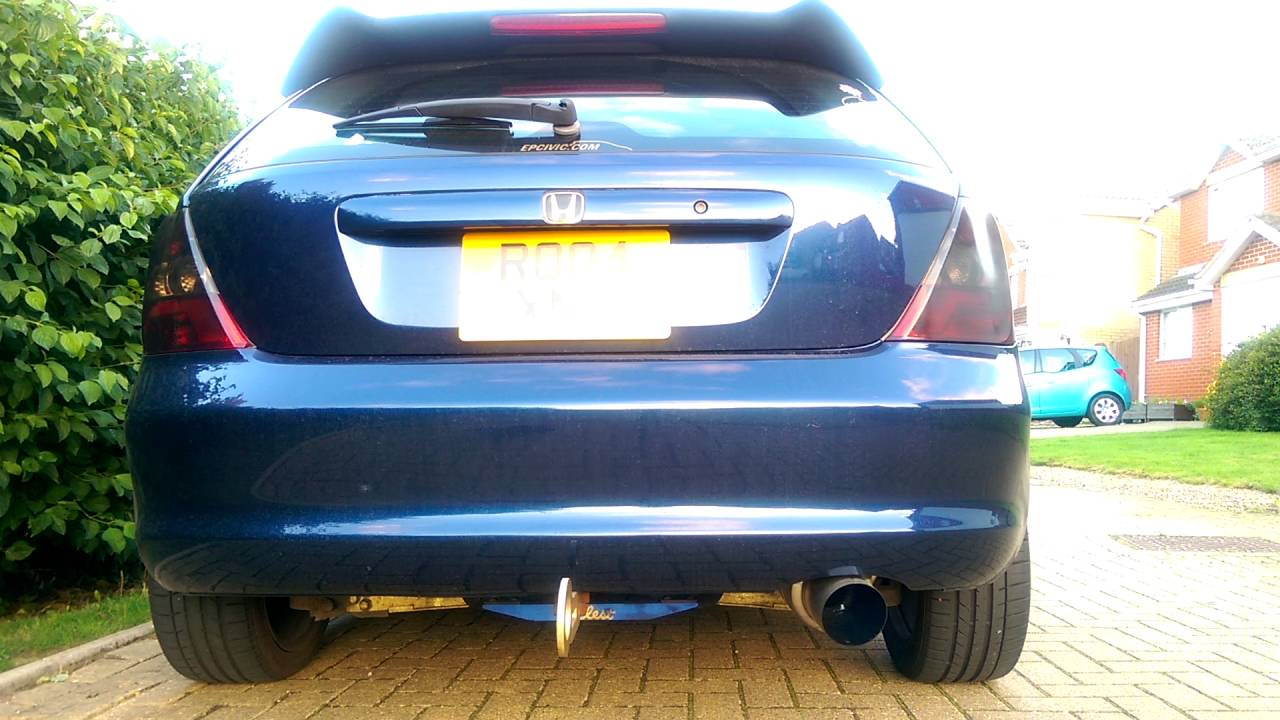 how to make civic exhaust pop