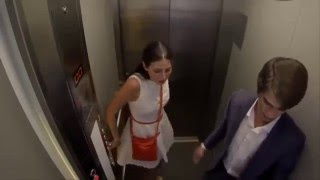 Prank Beautiful Russian Girl Fast Elevator