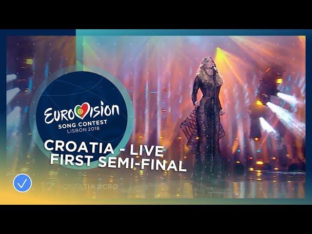 Franka - Crazy - Croatia - LIVE - First Semi-Final - Eurovision 2018