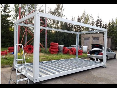 detachable mobile modular tiny container house homes frames installation 2