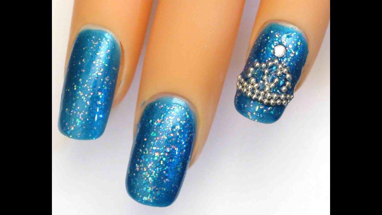 princess crown nail designs image - Princess Crown Nail Designs - Nails Gallery