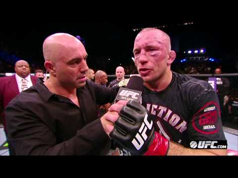 UFC 167: Georges St-Pierre Octagon Interview