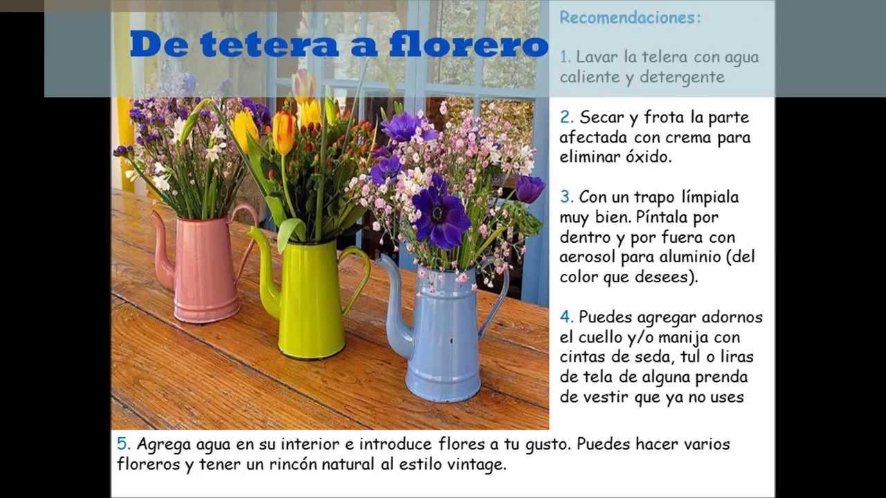 5 ideas para reutilizar objetos en el hogar youtube for Cosas decorativas para el hogar