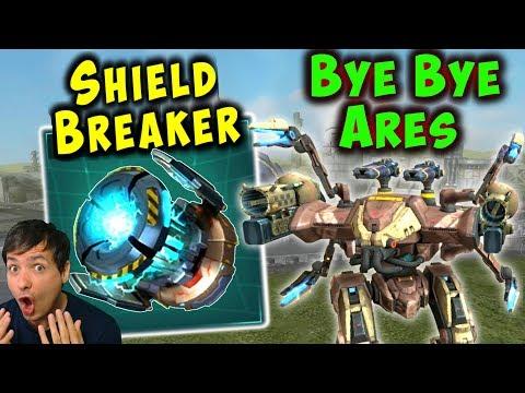 BYE ARES New ShieldBreaker Module War Robots Test Server Gameplay WR