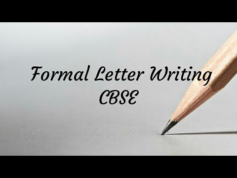 How To Write Formal Letter Full Explained In Hindi Latest Cbse