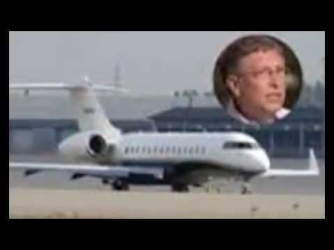 American business magnate inside bill gates private jet