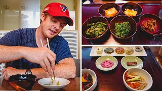 Eating Korean Vegetarian Food - 3 Course Buddhist Meal in Seoul, Korea