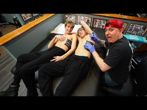 TWINS GET MATCHING TATTOOS