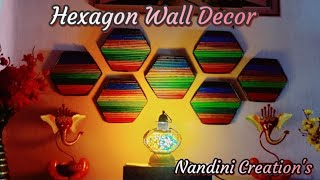 Wall Decor Idea: (hexagon) By Using Newspaper (less Expensive, Simple And Easy To Make).