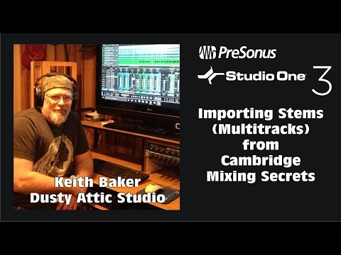 Importing Stems (Multitracks) into Studio One from Mixing Secrets