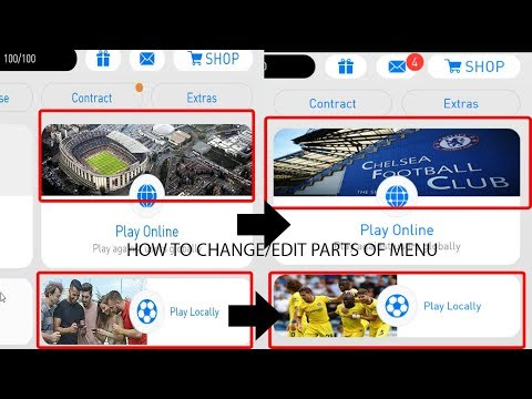 Pes 2018 Mobile - How to change/edit parts of menu - Full tutorial