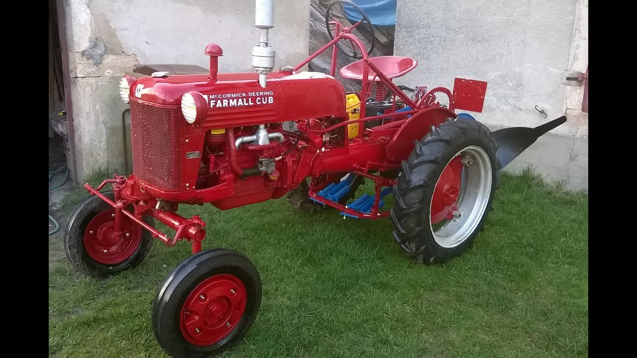 restauration d un tracteur ih farmall cub am 233 ricain