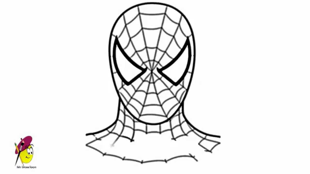 Uncategorized Drawings Of Spider Man how to draw spiderman face youtube