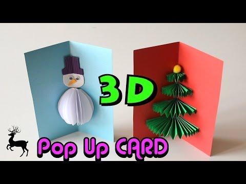 3D Pop Up Cards - Novogodišnje 3D čestitke