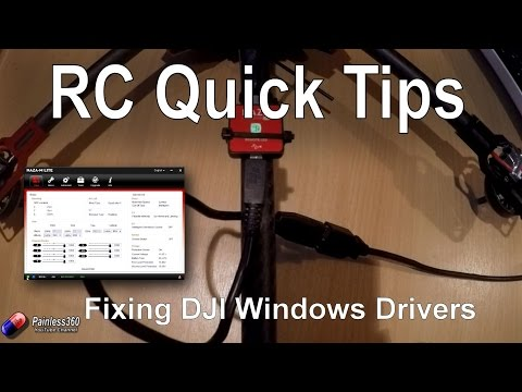 RC Quick Tips: Loading Naza/DJI Drivers In Windows 8 And 10
