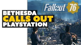 Fallout 76: Bethesda Calls Out PlayStation Over Lack of Crossplay
