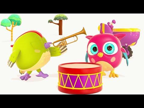 Развивающий мультик для детей про Музыкальные Инструменты — Совенок Хопхоп