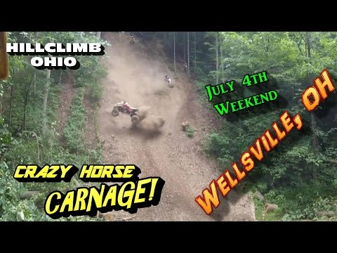 [HILLCLIMB OHIO] 4th of July Weekend Hillclimbing/Riding/WRECKS/CRAZY HORSE CARNAGE at Wellsville oh