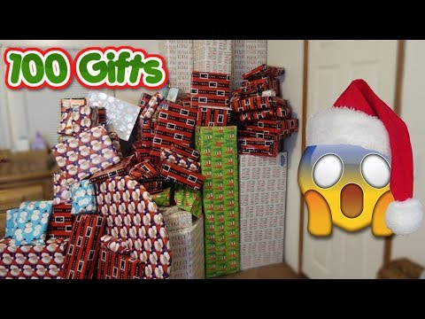 WRAP 100 CHRISTMAS GIFTS WITH ME ON TIME LAPSE!