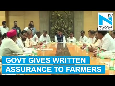 Maharashtra Farmers Call Off Protest After Agreement With The