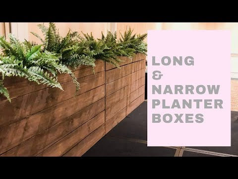How to Build a Long and Narrow Planter Box | $40 Lumber