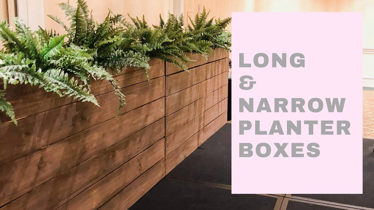 How To Build A Long And Narrow Planter Box 40 Lumber