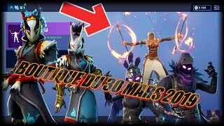 FORTNITE: Shop of the day March 30, NEW EMOTE BATON OF FEU and CORBEAU SKIN RETOUR! ITEM SHOP